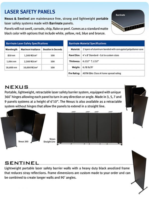 Laser Protective Barriers - Curtain, Rigid Board and Roll-up-101