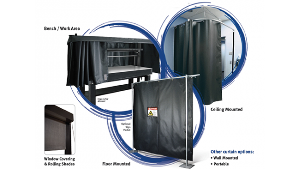 Laser Protective Barriers – Curtain, Rigid Board and Roll-up